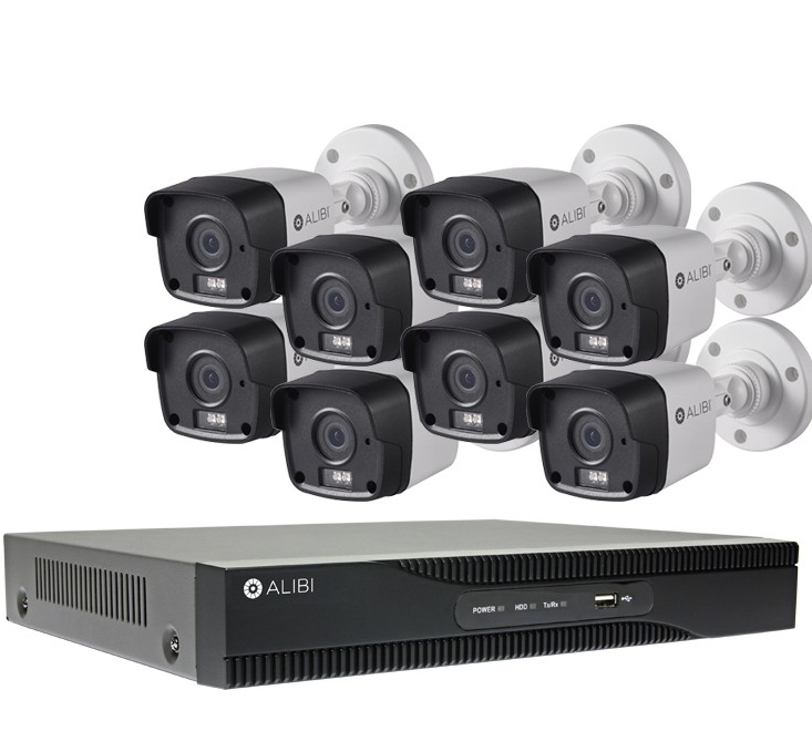 A-Series 8 Channel NVR w/ 8 Bullets 4MP